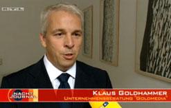 Klaus Goldhammer im Interview mit dem RTL-Nachtjournal