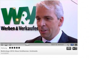 Dr. Klaus Goldhammer im Interview mit wuv, Medientage München 2010