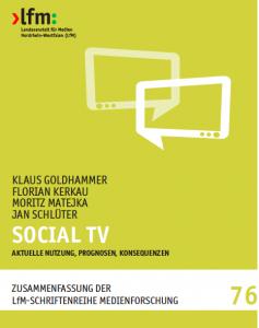 Social TV Studie LfM Goldmedia