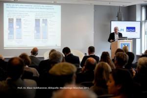 Prof. Dr. Klaus Goldhammer, Geschäftsführer Goldmedia, Bildquelle: Medientage München 2015