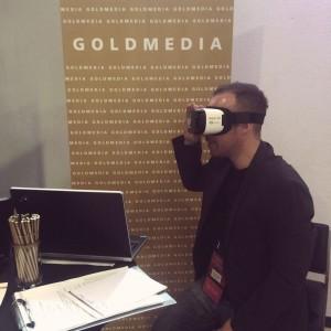 Goldmedia auf der VRnowcon 2016 in Potsdam, © Goldmedia