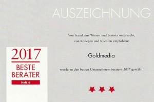 Urkunde_2017_Unternehmensberater_brandeins_statista_blog