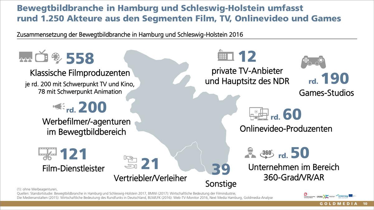 Studie Bewegtbildbranche in Hamburg und Schleswig-Holstein 2017, © Goldmedia 2017