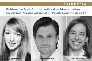 Dr. Hanne Detel, Felix Riesenberg, Fiona Fehlmann (v.l.n.r.), © Goldmedia 2018