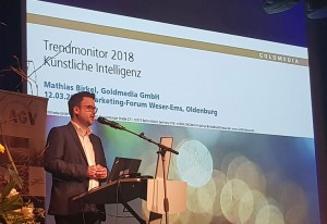 Mathias Birkel, Referent beim 4. Marketing Forum Weser-Ems, © Goldmedia