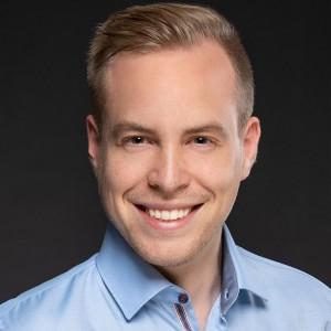 Florian Fischer, ausgezeichnet mit dem Goldmedia-Preis für innovative Abschlussarbeiten im Bereich Medienwirtschaft 2018